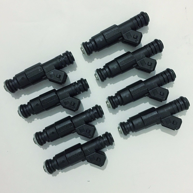 Video test enclosed 8X Flow matched E85 LS1 LS6 1000cc fuel injector universal ev1 connector GT1000 for v8 engine racing