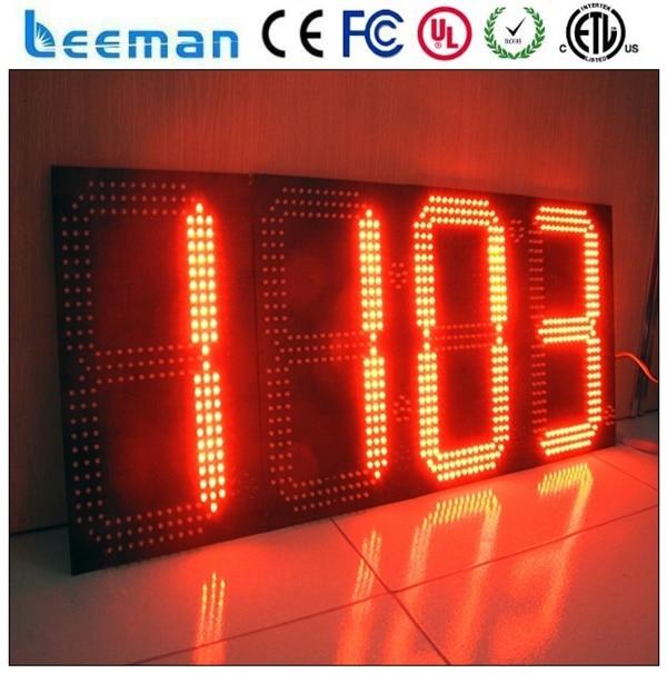 Leeman горячая распродажа 7 сегментный цифровой из светодиодов дисплей часов 24 открытый часы \ 7 сегментный цифровой из светодиодов дисплей часов \ будильник из светодиодов