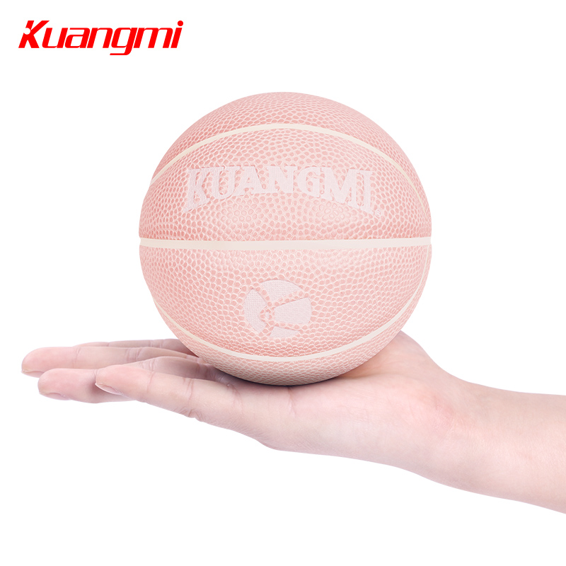 Kuangmi Mini Basketball Pink 13cm Size 1 Indoor Ourdoor Ball for Kids Children Baby Games Toys Basketballs Accessory soccer balls size 4