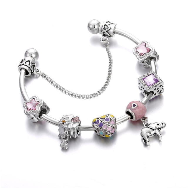 Charm Bracelet Bangle Femme...