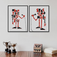 Modern Abstract Microphone Music Style Poster Prints Home Living Room Decoration Drawing Hipster Wall Art Canvas Painting Gifts