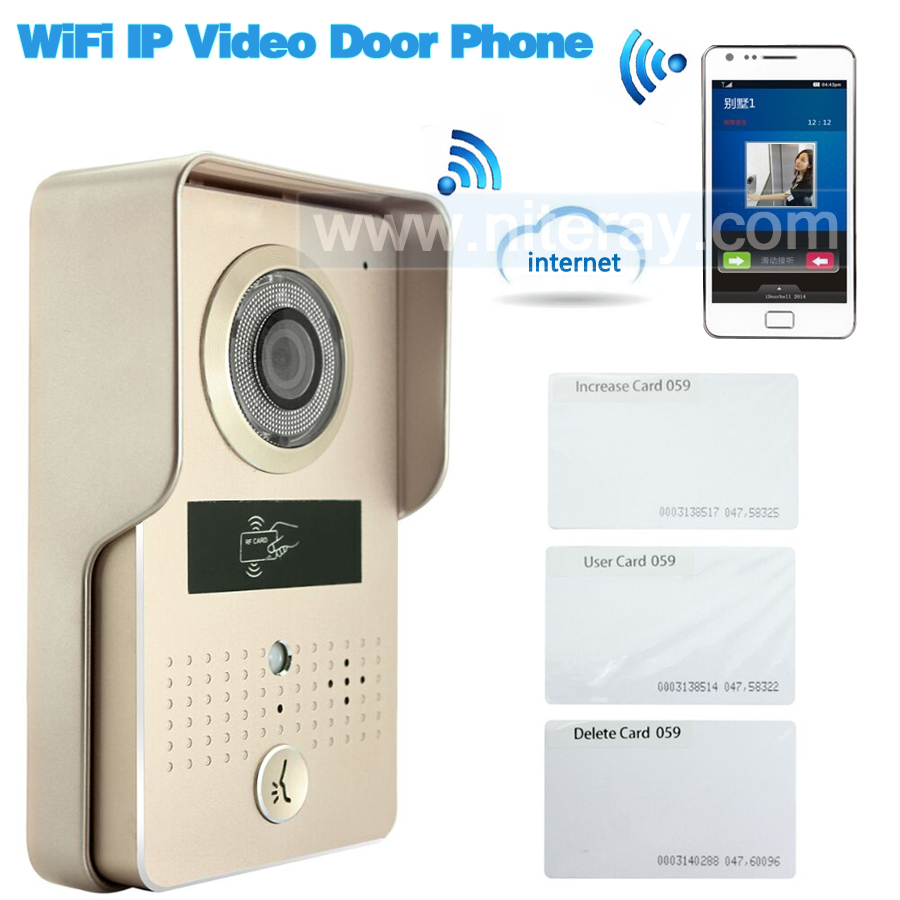 Special deal!! Apartment building video intercom door <font><b>phone</b></font> controlled by IOS/Android smart <font><b>phone</b></font> remotely