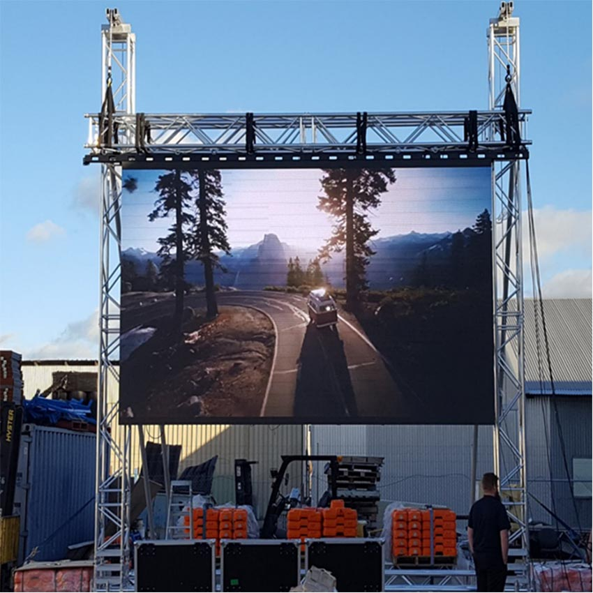 Outdoor P6mm Waterproof Led Video Wall, Led Display, 576x576mm Cabinet, Led Video Panel For Advertising