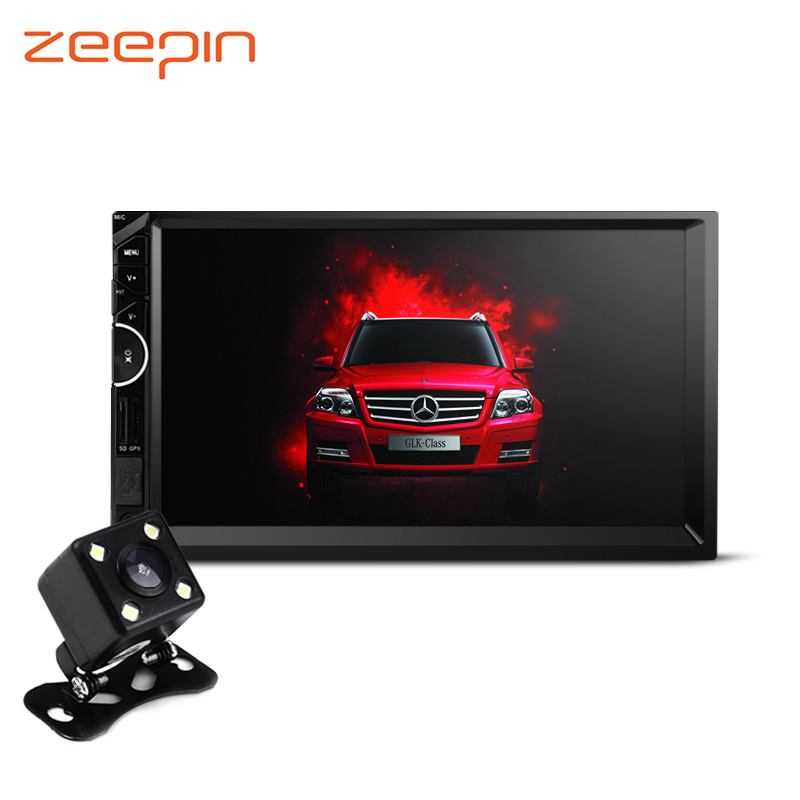 Zeepin 8001 7inch 2Din Car Radio Video MP5 Payer Stereo Audio GPS Navigation Bluetooth Handfrees Rearview Camera Remote Control car mp5 player with rearview camera gps navigation 7 inch touch screen bluetooth audio stereo fm function remote control