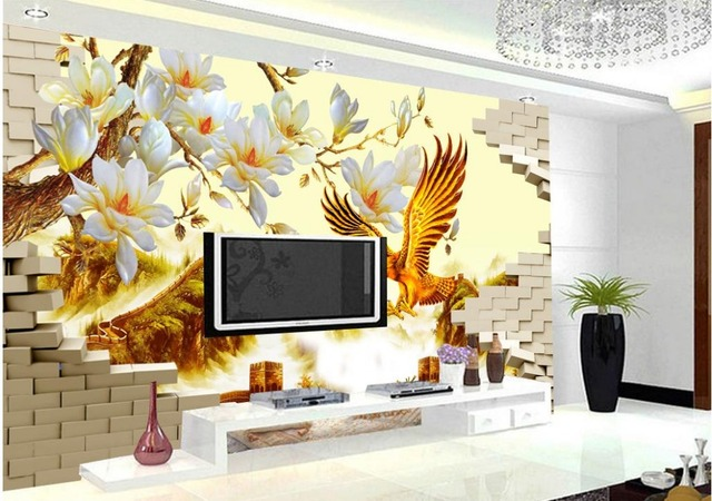 Woondecoratie d behang kleur eagle mountain driedimensionale