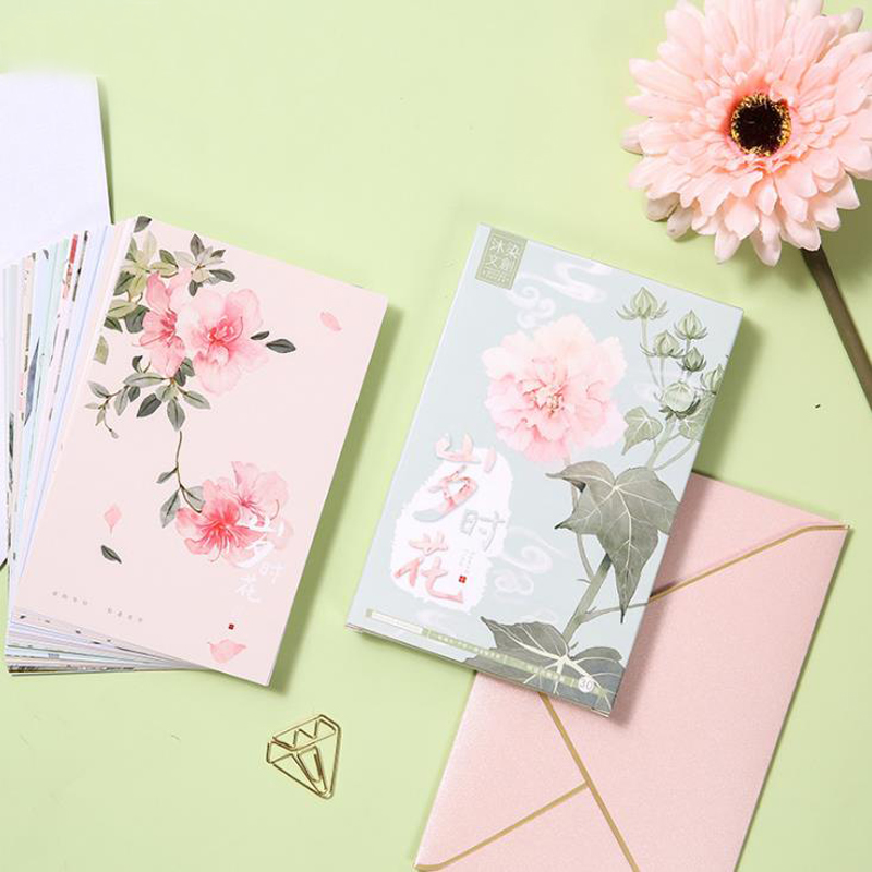 1 Pack hot times flower postcard Bookmark greeting card Letter paper 1 lot = 1 pack = 30 pcs kinepin soft cosmetic puff versatile gourd makeup sponge make up foundation sponge blender face powder puff sponge cosmetic tool