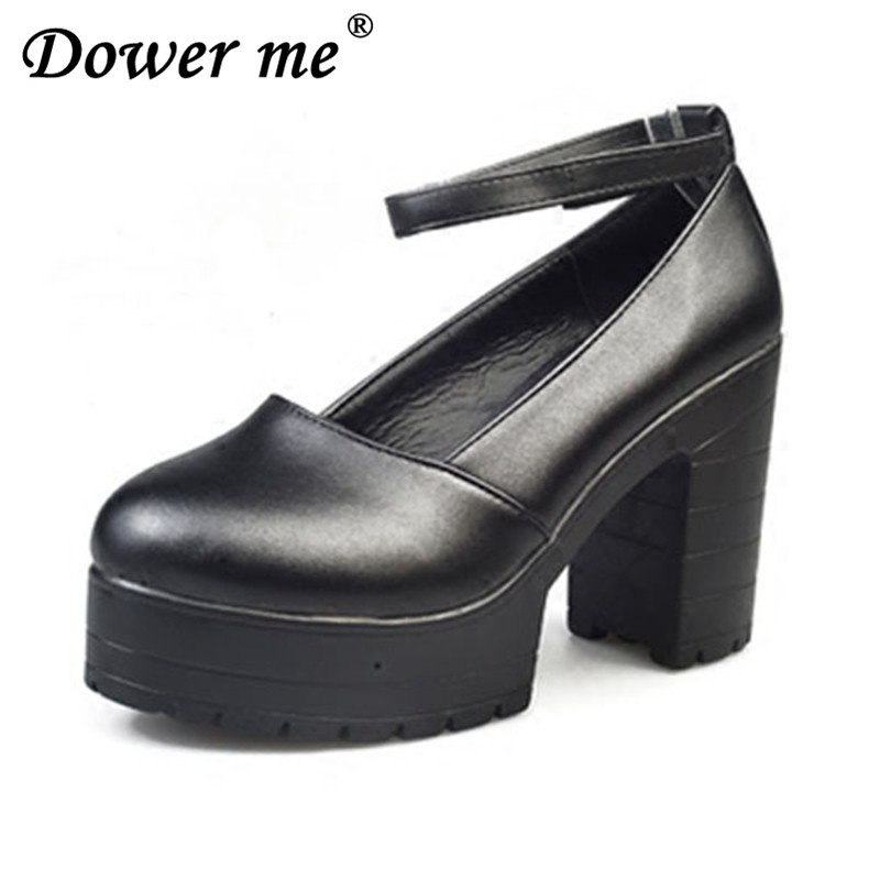 2017 Factory Outlet Big spring ladies footwear casual thick heels platform shoes for girls Europe women hihg heels shoes pumps kryte sandały na platformie