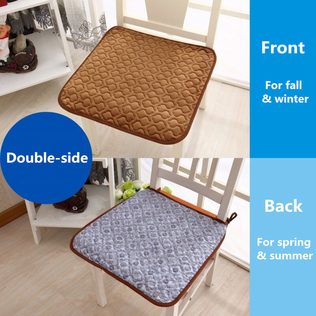 Ordinaire Office Chair Seat Cushion Double Sided Dining Chair Cushions Studentu0027s  Autumn Winter Plush Computer Sitting Pad