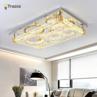 Modern LED Ceiling Light Square Crystal Lustre Luminarias Para Sala Led Lamps For Home Aisle Corridor