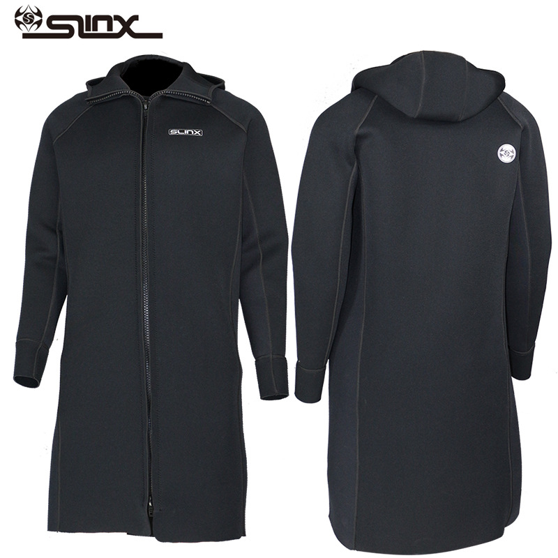 New SLINX 3MM Men Women Neoprene Hooded Windbreaker Wetsuit Diving Suit Keep Warm Swimwear for Snorkeling