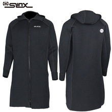 New SLINX 3MM Men Women Neoprene Hooded Windbreaker Wetsuit Diving Suit Keep Warm Swimwear for Snorkeling Fishing Swimming