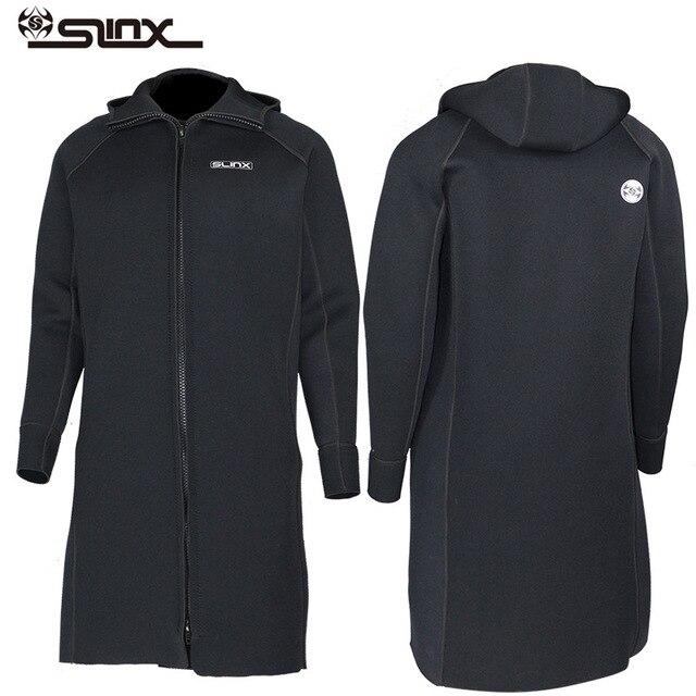 New SLINX 3MM Men Women Neoprene Hooded Windbreaker Wetsuit Diving Suit Keep Warm Swimwear for Snorkeling Fishing Swimming