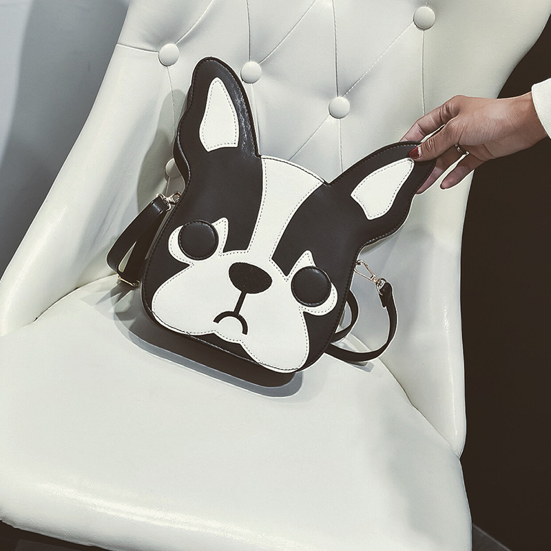 Women PU Leather Handbag Cartoon 3D Dog Pattern Shoulder Bag Messenger Crossbody Bags Dog Pattern Shoulder Bag Free Shipping 404