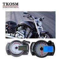 TKOSM Modern KOSO RX2N 15000rpm Black White Similar LCD Digital Motorcycle Odometer Speedometer Adjustable MAX 199KM/H Motorbike