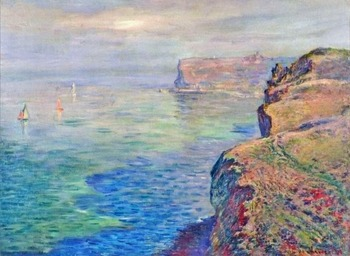 High quality Oil painting Canvas Reproductions Cliff at Grainval near Fecamp (1881)  by Claude Monet hand painted