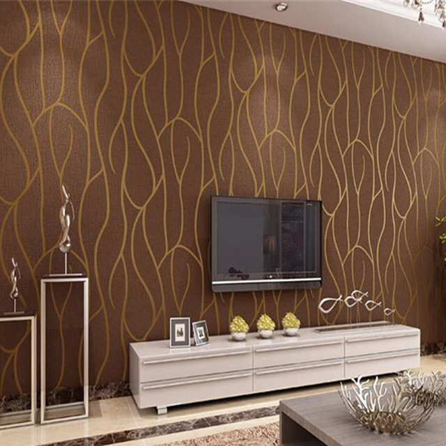 US $37.25 19% OFF|Luxury Modern Wallpapers Geometric Pattern Thicken 3D  Stereoscopic Non woven Fabric Wallpaper Bedroom Living Room Walls  Covering-in ...