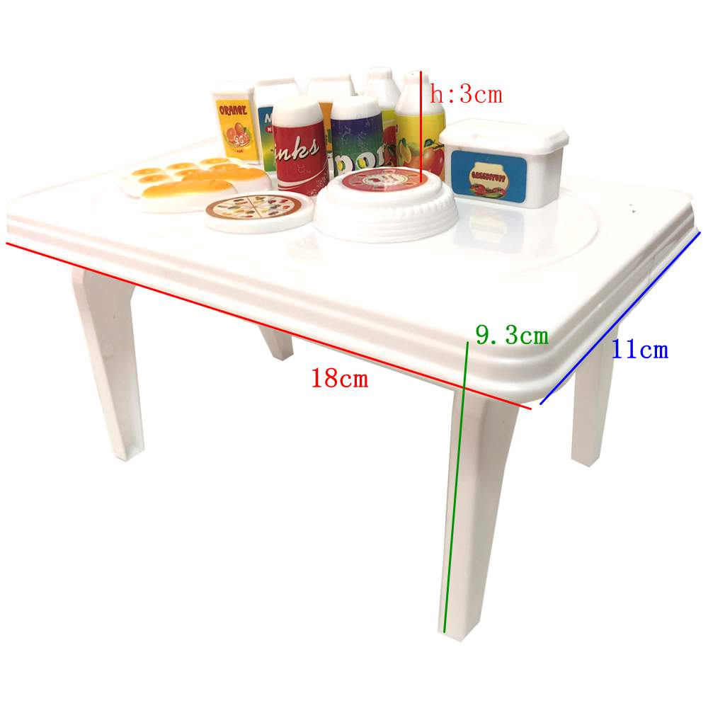 NK One Set Doll Accessories Baby Toys Dolls Breakfast  Table With Food And Cup For Barbie Dolls Accessory Baby Toys P001A