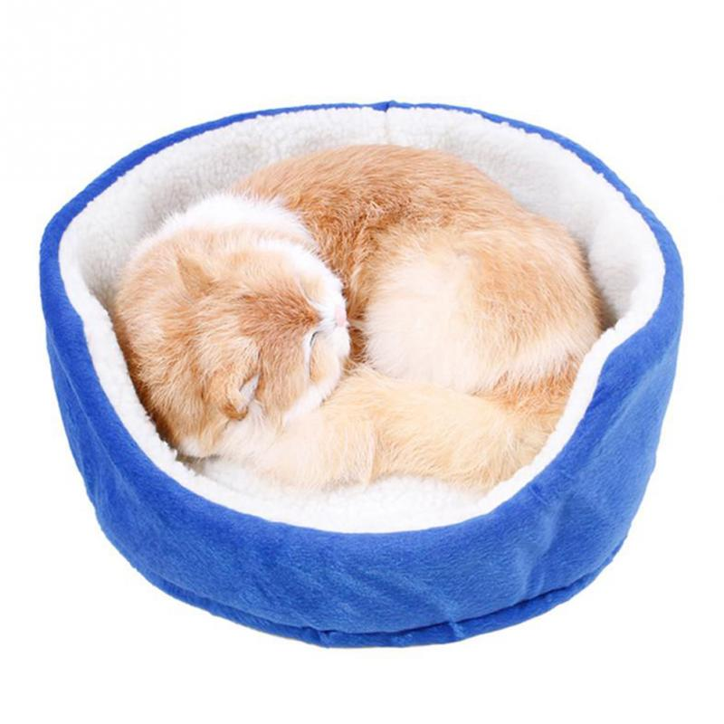 New 33*33*15cm Soft Pet Small Dog Cat Bed Puppy Cushion House Warm Kennel Mat Blanket 4 Color Available