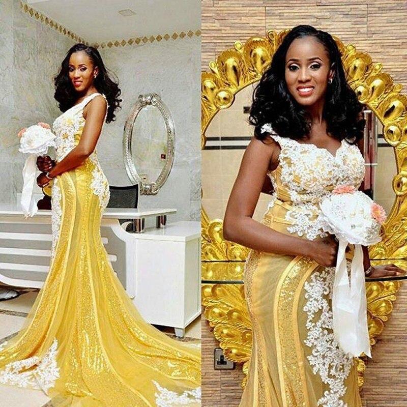 Yellow Mermaid Wedding Dresses – fashion dresses