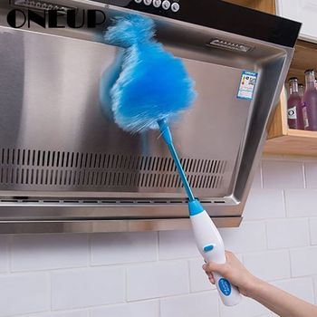 ONEUP Adjustable Electric Feather Duster Dirt Dust Brush Vacuum Cleaner Blinds Furniture Window Bookshelf Cleaning Tool Brush