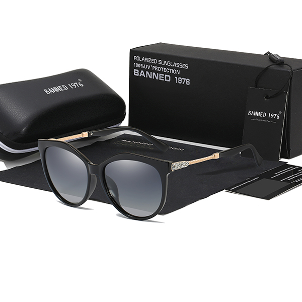 2019 New Luxury HD Polarized Women Sunglasses Fashion Round Ladies Vintage Brand Design cat eye woman Female Sun Glasses oculos 11