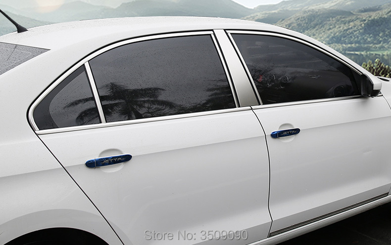 For Skoda Rapid 2016 2017 2018 Sedan Car Styling Window Trim Decoration Strip Sticker Cover Car Styling for ford fiesta hatchback or sedan 2009 2015 car window stainless steel cover trim covers chromium styling strip car accessories