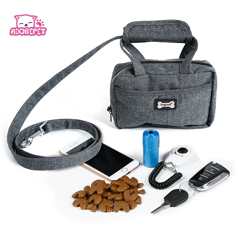 Pet Leash Bag Dog Treat Training Pouch Dog Walking Leash Hands Free Poop Bag Dispenser And Pet Waste Holder Carries Phone