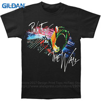 Funky T Shirts Broadcloth Tailored Go Pink Floyd The Wall Marching Crew Neck Short Sleeve Mens
