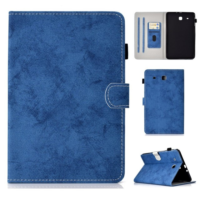 reputable site 8de3c 1d333 US $10.99 |Case for Samsung Galaxy Tab E 9.6 T560 T561 Cover Business Card  Slot PU Leather Stand Case Cover For Samsung SM T560 T561 9.6-in Tablets &  ...