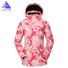 Winter Ski Jacket Women Waterproof Windproof Snowboard Coat Snow Female Warm Outdoor Mountain Skiing Suit For Girls недорого