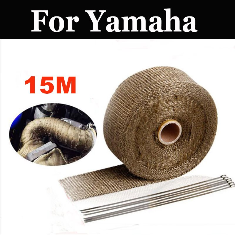 15m Motorcycles Exhaust Front Pipe Cloth Roll Motorbike Anti Hot Wrap Heat For Yamaha Xs 250 400 400r 650 750 850 1100 1100sf|Exhaust & Exhaust Systems|Automobiles & Motorcycles - title=