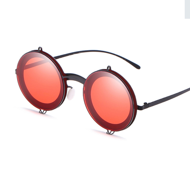 598fd9803 Fashion Metal Frame Round Sun Glasses Women Men Retro Steampunk Flip  Sunglasses 2019 Brand Design UV400 Sunglass Shades Eyewear