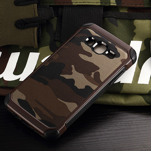J Camouflage Case for Samsung Galaxy J5 2016 2015 Case Camo Military Back Cover Coque Capinha Silicone Rubber Phone Cases