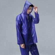 Плащ Для мужчин Водонепроницаемый костюм для Рыбная ловля дождь куртка Открытый мотоцикла Велосипеды езда на велосипеде Дождь Костюм Пальто и пуховики + Брюки для девочек