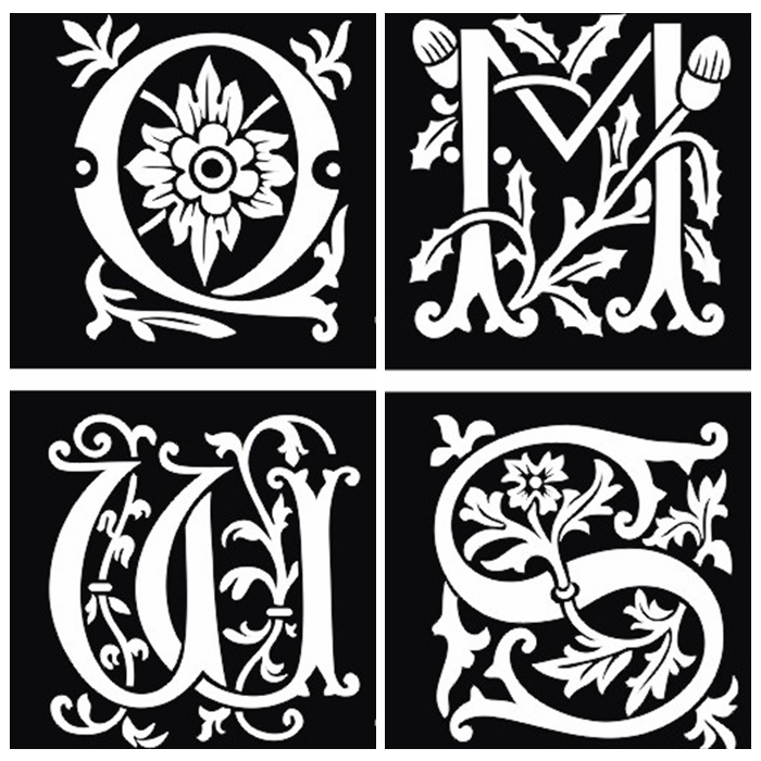 26Pcs Airbrush Tattoo Stencils Lettering For Body Painting Glitter ...