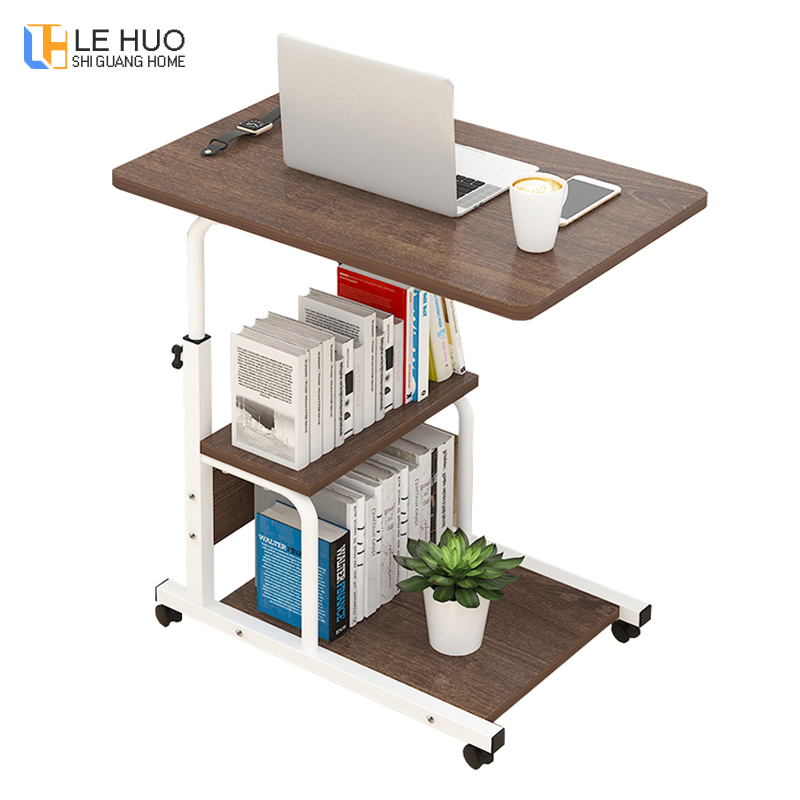 Simple standing laptop table can move household desktop desk can be raised and lowered mobile folding table home furnitureSimple standing laptop table can move household desktop desk can be raised and lowered mobile folding table home furniture