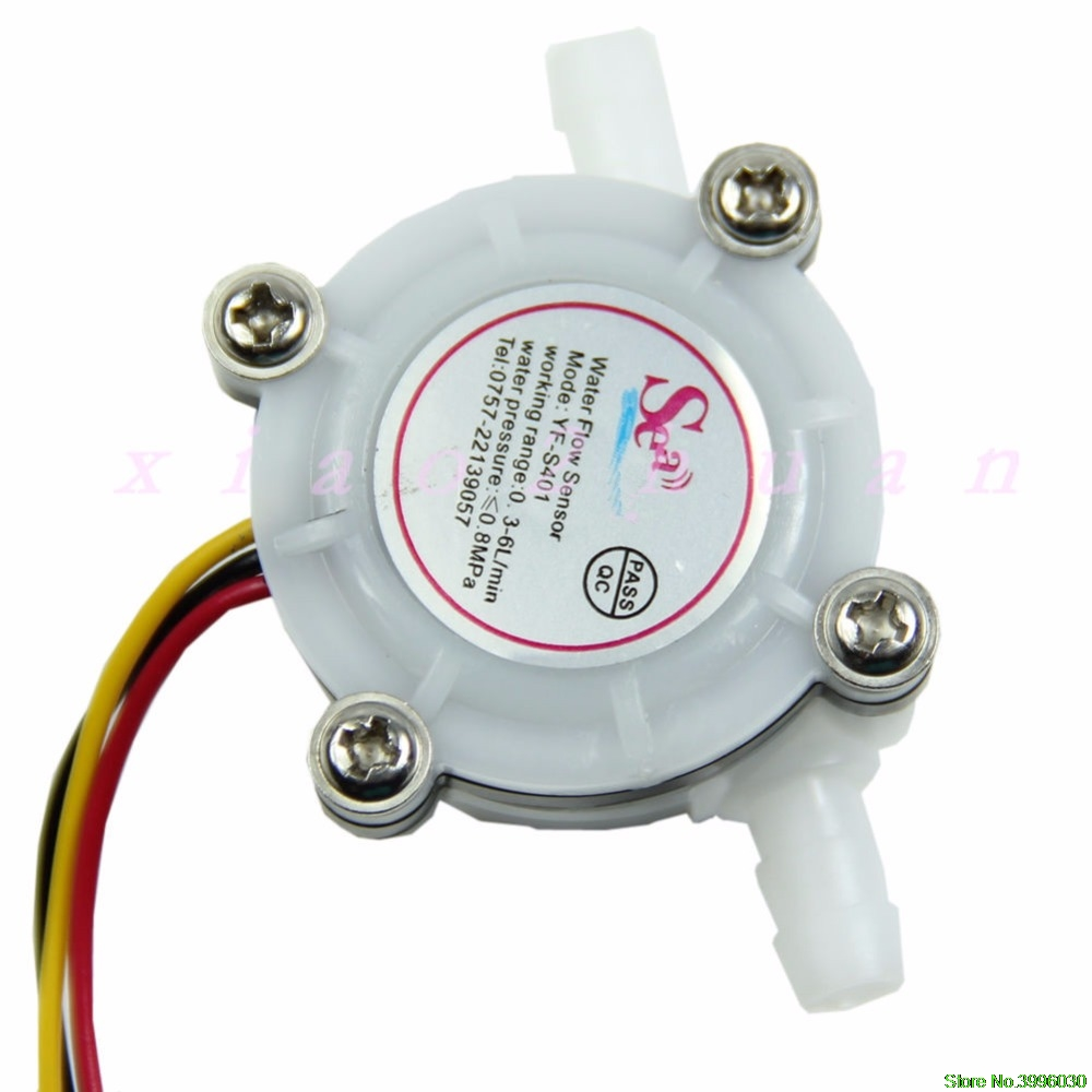 1pc Water Coffee Flow Sensor Switch Meter Flowmeter Counter 0.3-6L/min New