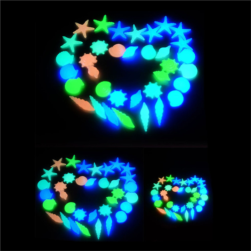 10pcs זוהר פולטת אור מלאכותי חלוקי אבן זוהר בחושך מלאכותי אבן תפאורה הגן