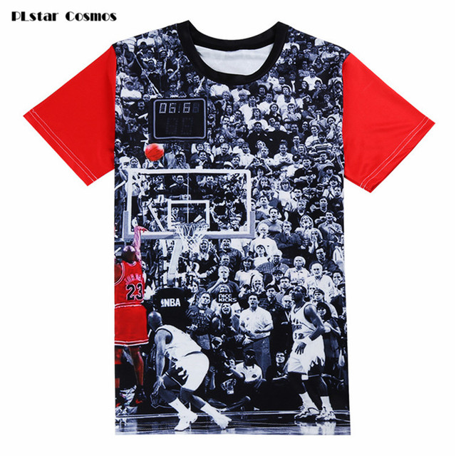 4940604ad PLstarCosmos Mens Jordan T Shirt 23 Short Sleeve 3D Print Hip Hop Tees 2018  Men's Hipster Clothing Streetwear Punk T Shirts
