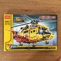 2016 nueva decool technic city series 2-en-1 helicóptero modelo de bloques de construcción ladrillos niños juguetes marvel