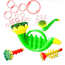 Child Water Blowing Toys Outdoor Bubble Gun Soap Bubble Blower Toys For Children Creative Bubble Machine Toys(China)