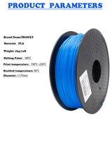 Gratis verzending 3d-printer filament voor MakerBot/RepRap/UP/Mendel PLA/ABS 1.75 plastic Rubber Verbruiksartikelen materiaal 1 KG