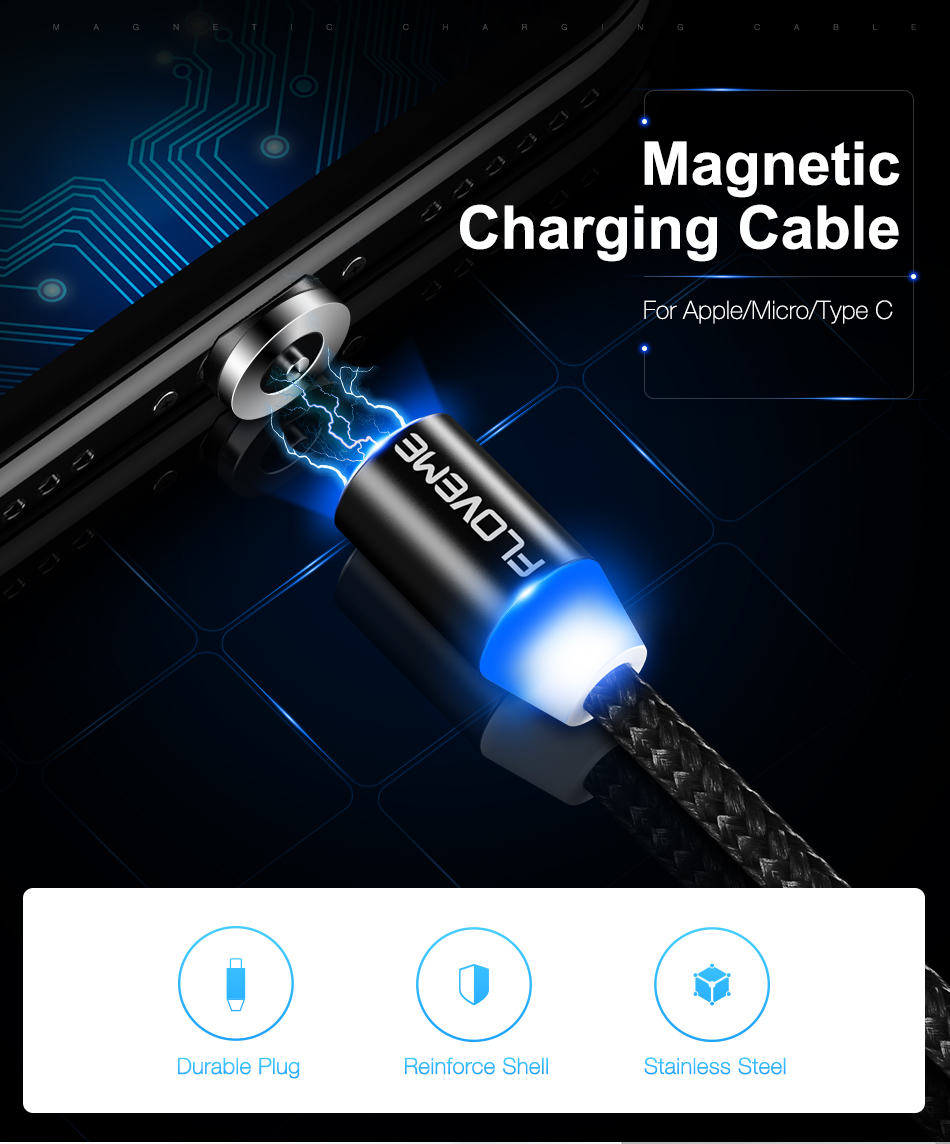 HTB1K MicgvD8KJjy0Flq6ygBFXaI - New Universal 1m Braided Micro USB LED Connector Charger Cable