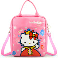 2016 High Quality cute Rose Red Hello Kitty Backpacks Cartoon Backpack Girl Character School Bag Kids Mochila Infantil Bag