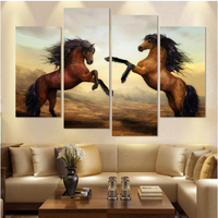 Wall Art Stampe Su Tela Grandi Dipinti Equestri Attaccatura di Parete Decorativa Domestica Wall Decor Pittura A Olio Cavallo Horse Lover Immagine