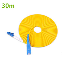 Optical Fiber Patchcord 30m LC to SC UPC Optic Patch Cord Simplex 2.0mm PVC G657A Ftth Jumper Connector
