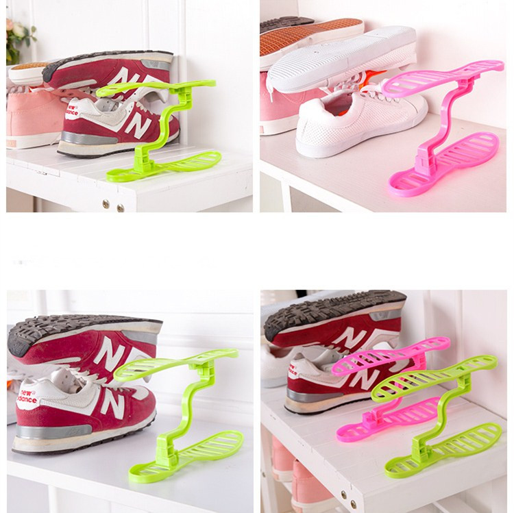 Mini Plastic Shoe Rack Organizer Stand Shelf Holder Unit Black Light Living Room Furniture Hanger