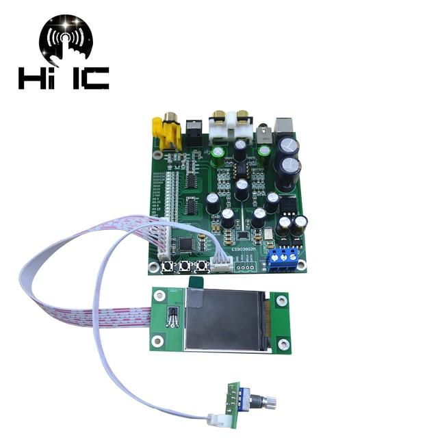 Najnowsze ES9038Q2M ES9038 Q2M I2S DSD optyczne wejście koncentryczne dekoder słuchawki z przetwornikiem DAC wyjście wzmacniacz audio Hi-Fi pokładzie 384 k dop128