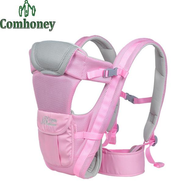 Ergonômico Portador de Bebê Verão Respirável Suspensórios Bebê Mochila Portador de Bebê Canguru Sling Envoltório Multifuncional Estilingue Envoltório