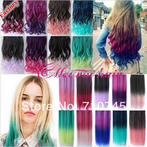 Hair Pieces Top Fashion 8 Colors Rainbow Women Hair